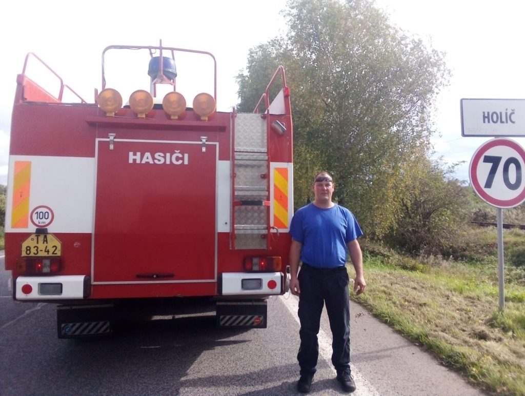 Odovzdanie vozidla, hasiči Městys Neustupov